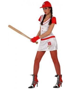 ATOSA 10371 costume giocatore base ball donna  t2 m\l