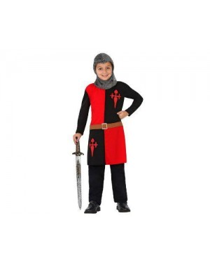 Costume Guerriere Medievale, Bambino T3 7-9 Anni