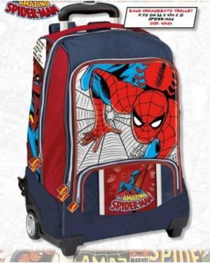 franco panini 49424 zaino trolley spiderman marvel organiz.