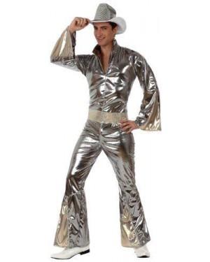 ATOSA 10382 costume ragazzo disco argentato t3 xl