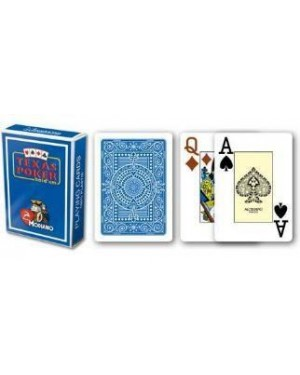modiano 300545 carte poker texas jumbo blu pvc