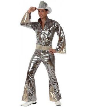 Costume Ragazzo Disco Argentato T-2.