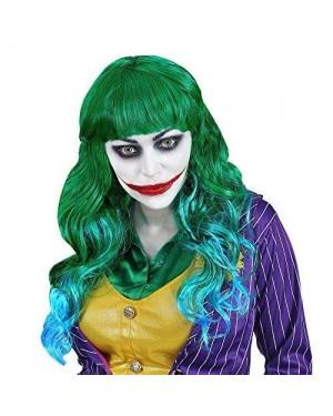 WIDMANN 02077 parrucca verde lunga joker batman