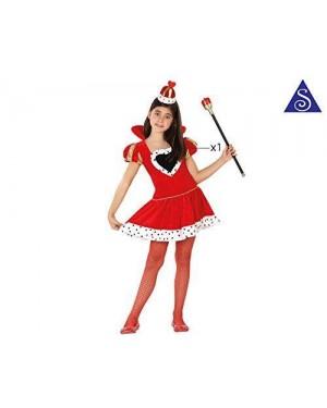 Costume Regina Di Cuori Bimba T4 10-12 Anni