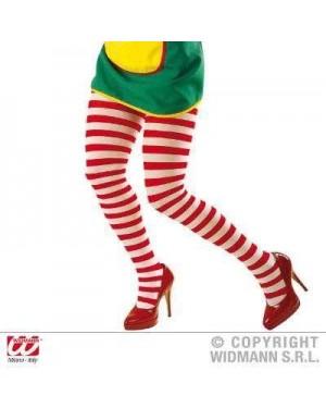 widmann 4719t calze collant rigati bianco/rosso mis adulto 70den