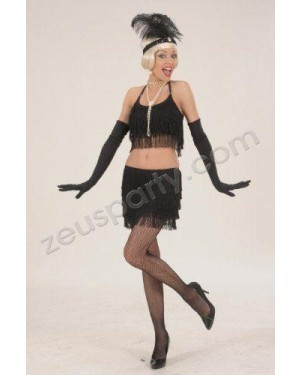 WIDMANN 89912 costume charleston top e gonna m neri