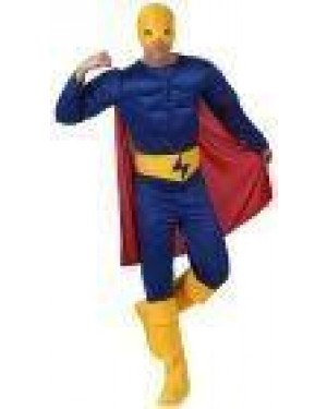 Costume Erore Muscoloso Azzurro, Adulto T2 M\L