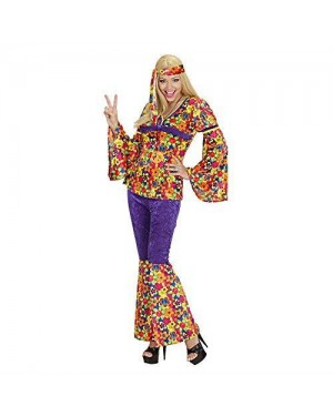 WIDMANN 73291 costume hippie girl s in vell.camic,pant,fasc.tes
