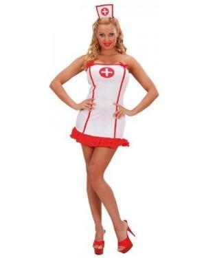 Costume Infermiera Bianca S In Lycra Vestito,