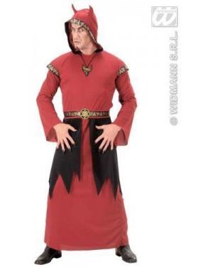 Costume Satana M Tunica Con Cappuccio