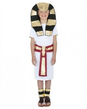 Costume Ragazzo Egiziano L Robe Cinghia Copri C