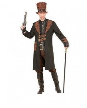WIDMANN 96733 costume steampunk uomo l cappotto
