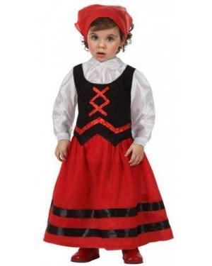 Costume Da Pastorella Rosso E Nero, 1-2