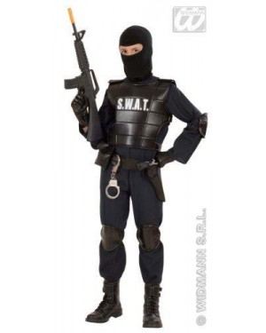 Costume Agente Swat Poliziotto 11/13 Cm 158
