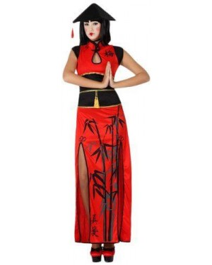 ATOSA 15279 costume cinesina rossa sexy t-3 xl