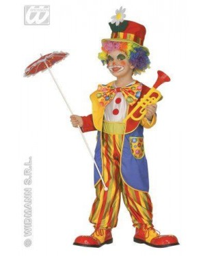 Costume Clown Bambino 3/4 4/5 Con Accessori