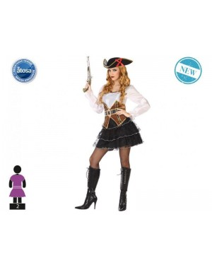 ATOSA 53969 costume pirata donna t-1 gonna nera