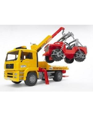 bruder 02750 bruder  man tga ripartizione-camion con veicolo cr