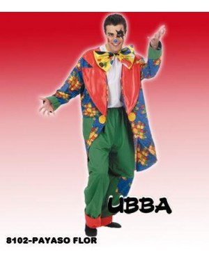 Costume Clown Payaso Flor Unica