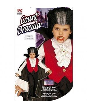 Costume Conte Dracula Con Camicia Con Gilet, Jabot