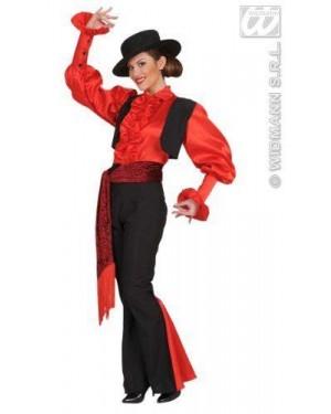 Costume Donna Spagnola S Camicia-Gilet-Pantaloni