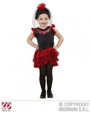 Costume Senorita  98- 110Cm Vestito, Copric Con F