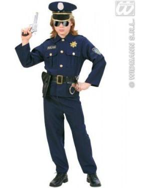 Costume Poliziotto In Tessuto Pesante 158Cm