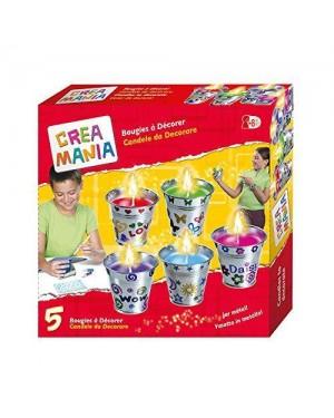 Giocheria RDF51736 Crea Mania Candele da Decorare Vaso Metallo