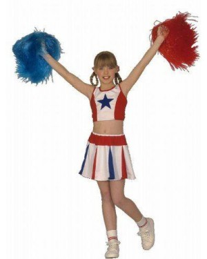 Costume Cheer Leader 128 Cm Top, Gonna