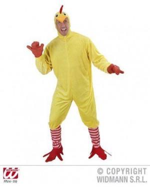 WIDMANN 89733 costume pollo l costume, calze con zampe, maschera