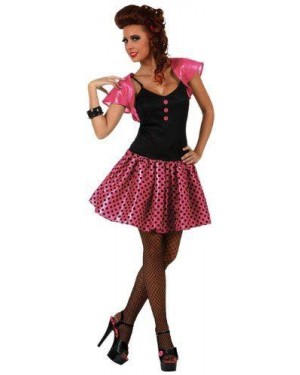 Costume Ragazza Anni 60 Rosa T-3