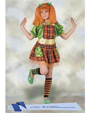 Costume Pel Di Carota 6/8 Anni  Pippi Calzelunghe