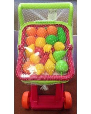 giochi preziosi rdf00071 funny home carrello spesa cestino con frutta