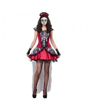 WIDMANN 07614 costume los muertos donna scheletro xl velo
