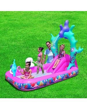 bestway 91051 gonfiabile parco giochi sirenetta 249x168x180