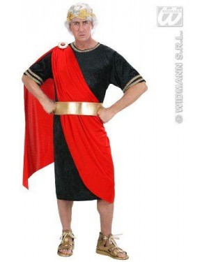 Costume Nerone S Tunica,Cintura,Corona D Alloro)