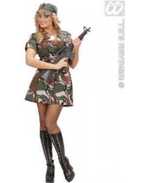 Costume Soldatessa Us Army M Vestito, Cintur