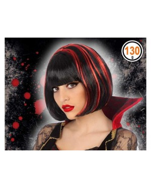 ATOSA 39795 atosa parrucca nera meches rosse vampira
