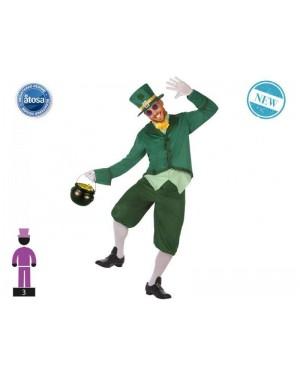 ATOSA 53898 costume elfo irlandese t-3 leprecauno