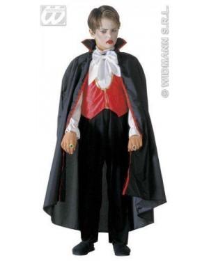 Costume Vampiro 8/10 Cm 140 Camicia C/Gilet