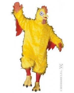 Costume Pollo In Peluche M Giallo Teatrale