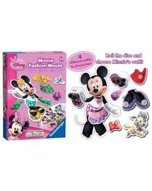 ravensburger 22187 gioco dmm minnie fashion house vestiti alla moda