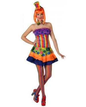 Costume Clown Donna, Adulto T. 2