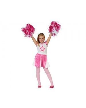 Costume Ragazza Pon Pon, Bambina T4 10-12 Anni cheerleader